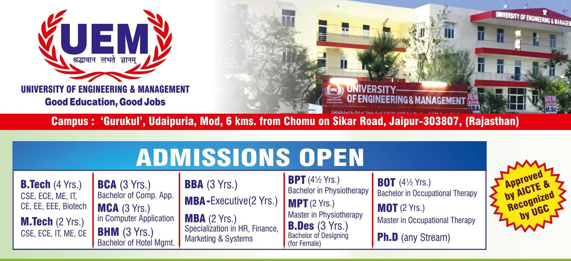 75d746854 Best Private Engineering Colleges University in Jaipur India